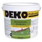 Мазилка полимерна драскана 1.5 мм. Deko – 25 кг. цвят: Бял (Оргахим)