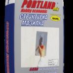 Мазилка суха структурна драскана 2.0 мм. Портланд Микс – 25 кг. Бяла (Теразид)